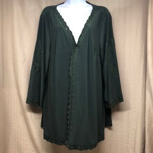 Antthony Green Open Front Cardigan Sequins Size 1X